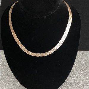 925 Sterling Silver braided necklace from Italy